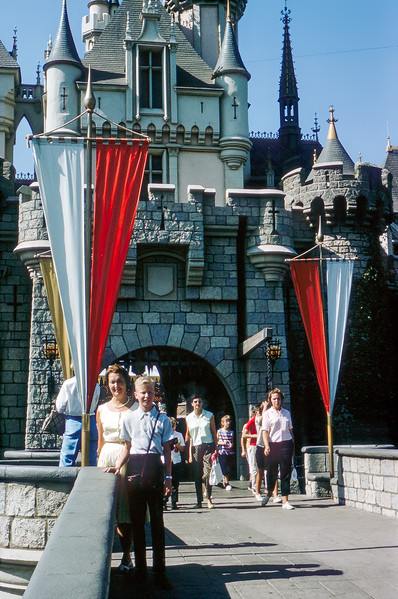 Mom & Barry by the Disney castle - 1964