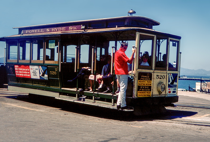 San Francisco cable car - 1964