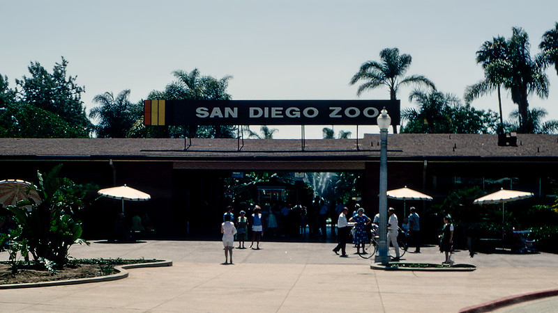 San Diego Zoo entrance - 1964