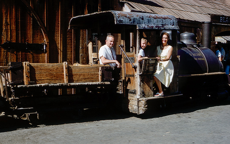 Knotts Berry Farm - Dad, Barry & Mom (AF) - 1964