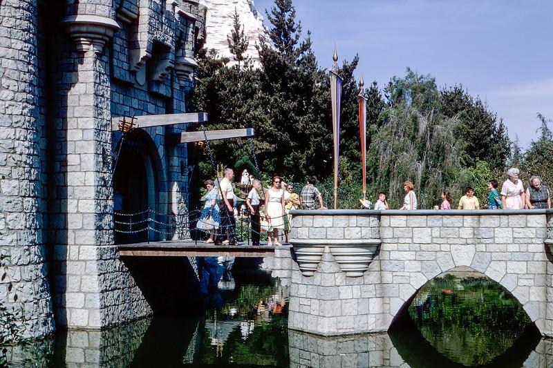 On the Disney castle's drawbridge (L) - 1964