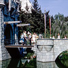 On the Disney castle's drawbridge (L) - 1964