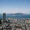 Top of the Mark  - San Francisco Bay & Alcatraz Island - 1964