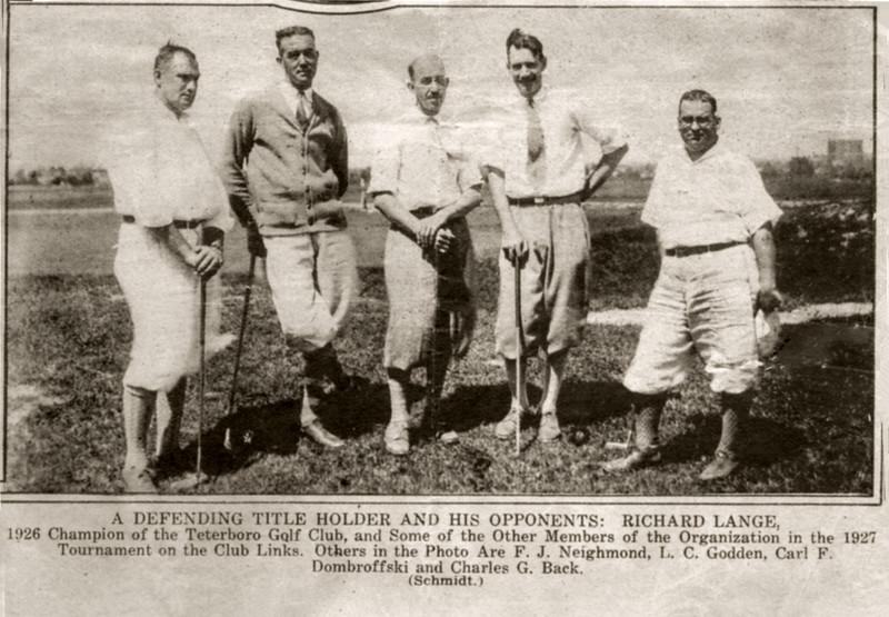 Grandfather Neighmond in 1927 golf tournament