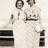 Rita & Nana at the beach - July 1936