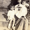 Nana with son Wilbur (age 4) & daughter Rita (age 1) - 1917