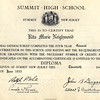 Rita's Summit High School diploma - June 20, 1935