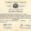 Rita's Summit High School Diploma - June 20, 1935