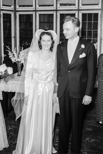 Rita & John Jr. during their wedding reception