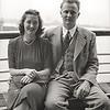 Rita & John Jr. on ship's deck of their honeymoon cruise to Bermuda
