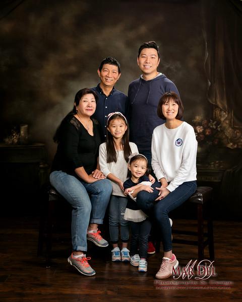 family portrait in Salt Lake Studio