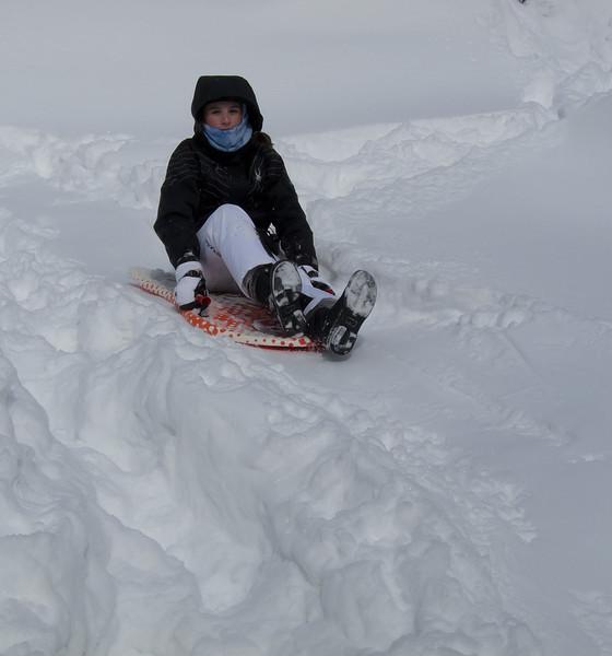 Ashley sledding