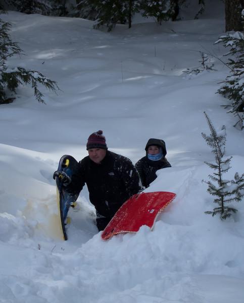 Nick & Ashley starting the climb back up the hill
