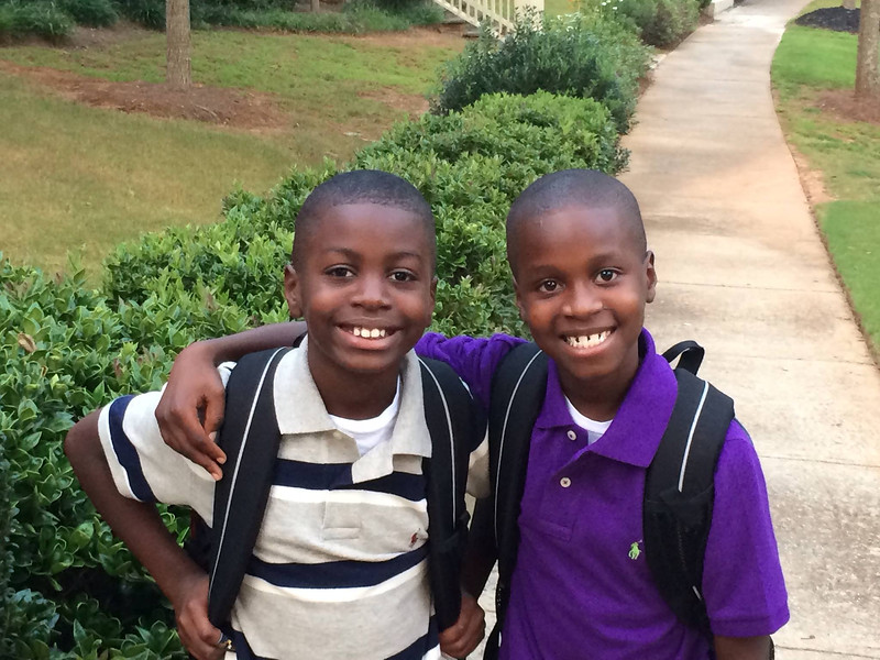 First day of school for Caleb (3rd grade) and Grayson (2nd)