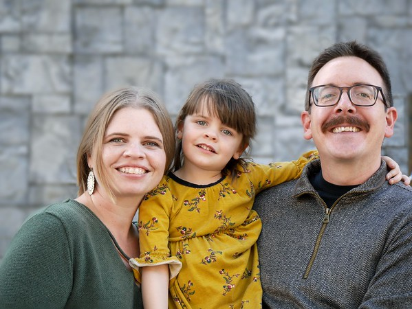 beasley family pic gray wall