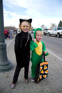On the streets of Hailey for the early in-town tirck or treating.