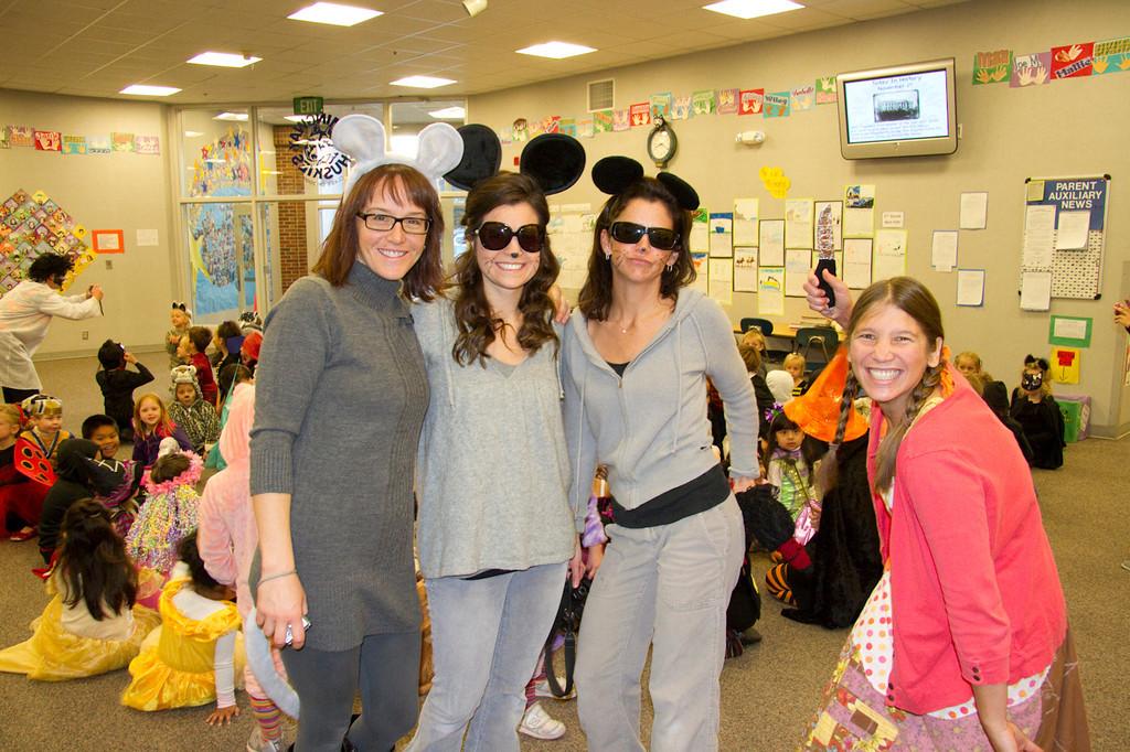 Kindergarten teachers as three blind mice