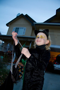 The panther is excited to leave the Flood party and head out to get some candy.