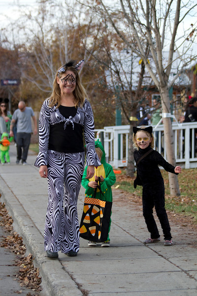 Hailey trick or treating.