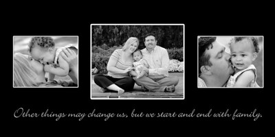 Sayre 15x30 Family 3 pic name plaque