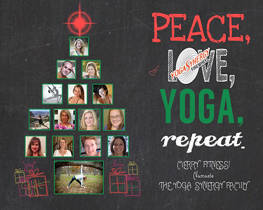 Yoga Holiday Card