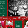 Silverthorn holiday card kids b-w
