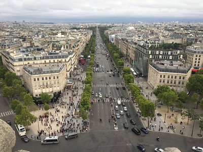 Europe Trip-Aug 2017 (Top of Arc de Triomphe 3)