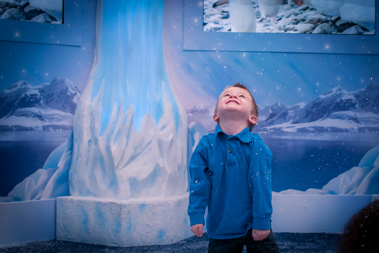 Kids at the Ice Castle