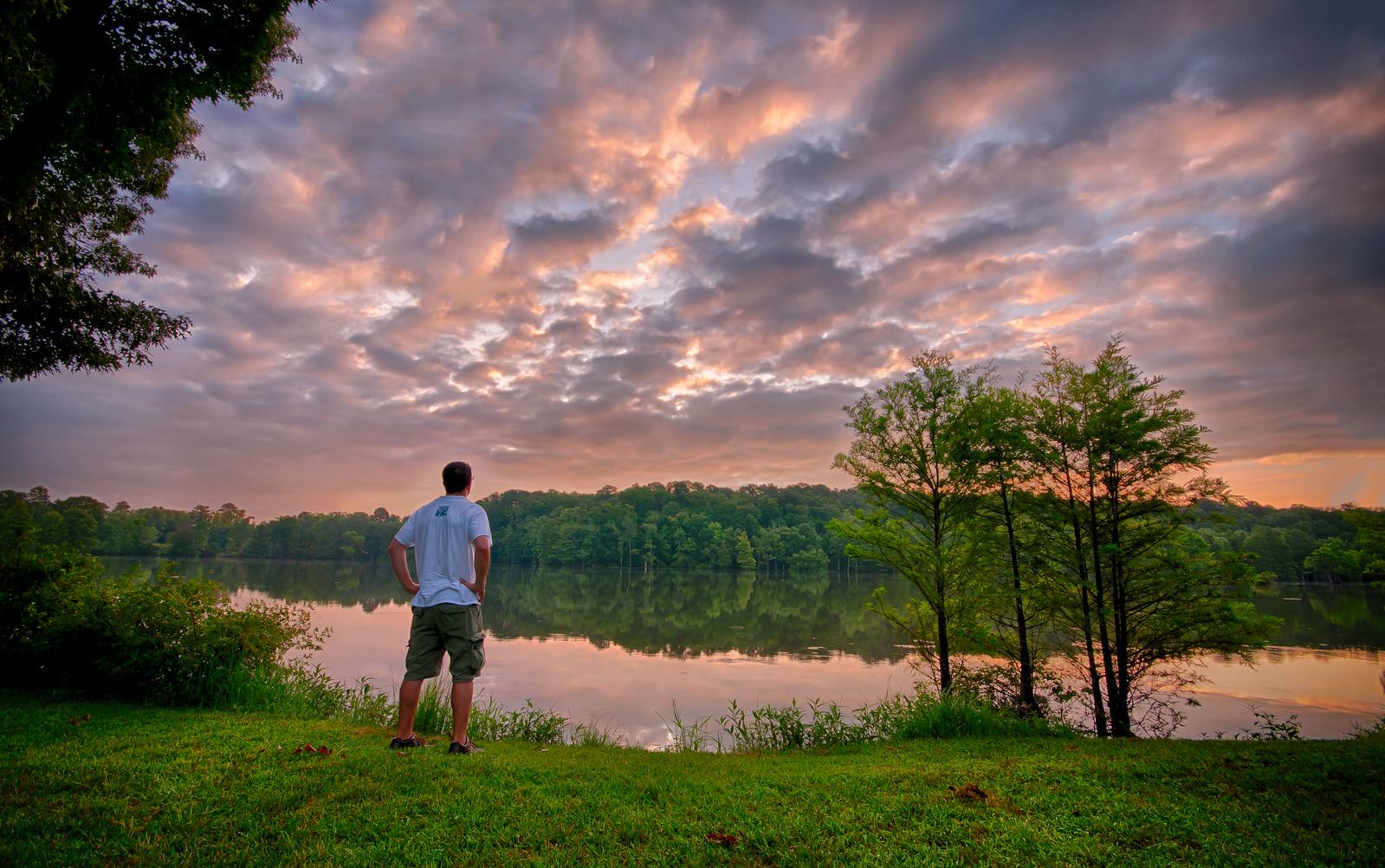 Watching the sunrise - July 12