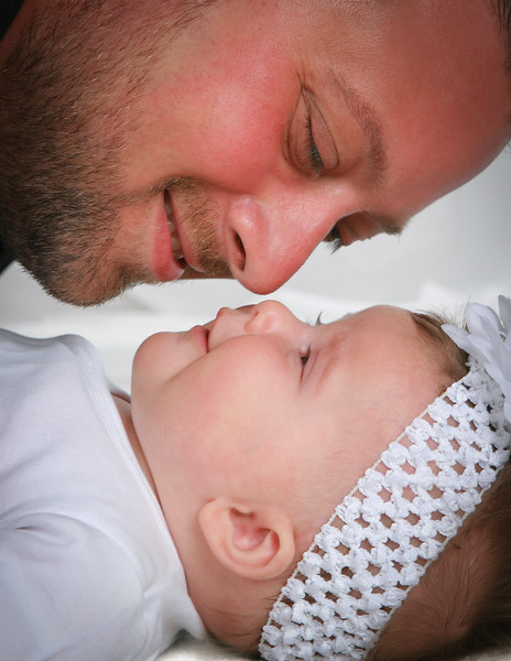 Father and Daughter Closeup Portrait