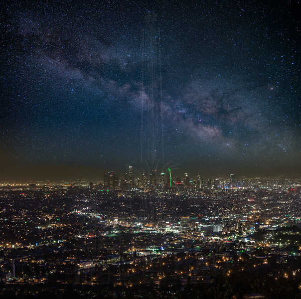 Milky Way over Downtown LA.