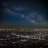 Milky Way over Downtown LA.