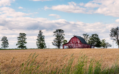 Old Indiana Red Barn