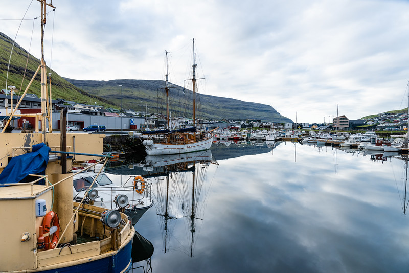 Klaksvik waterfront.  Faroe Islands.