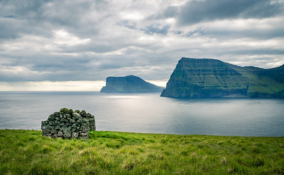 Shepherds hut, Kalsoy, Faroe Islands.