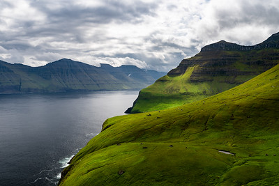 Fjord view, Kalsoy, Faroe Islands