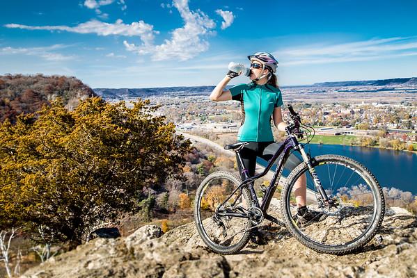 Mountain biking around Winona, MN