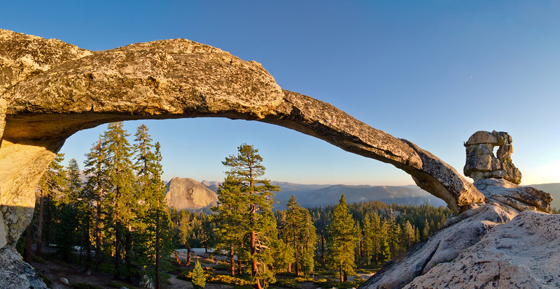 Rare granite arch in Yosemite