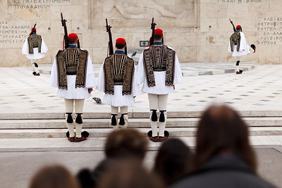 Changing of the Guards, Tomb of the Unknown Soldier, Athens, Greece