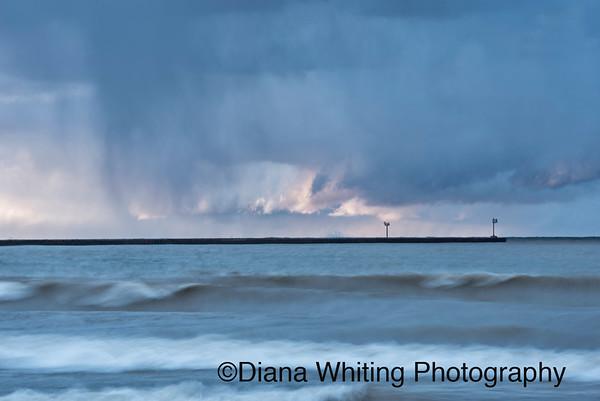 Changing Light As Storms Cross Lake Ontario