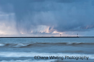 Changing Light As Storms Cross Lake Ontario