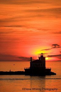 Oswego Lighthouse Sunset and a Marriage Proposal