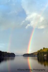 Rainbow on Long Lake Adirondacks