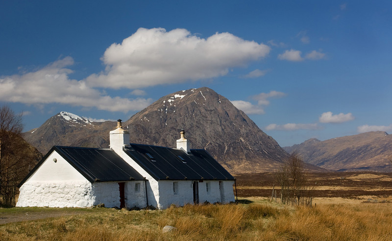 Ladies Hikers Cottage Glen Coe. Scotland.