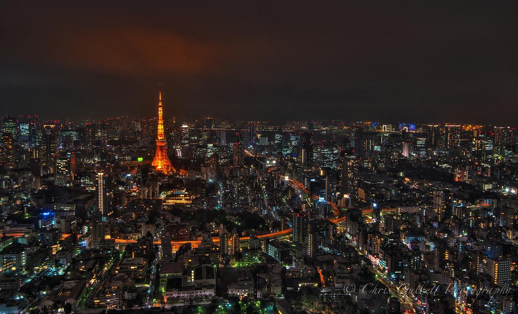 Tokyo Skyline In Orange