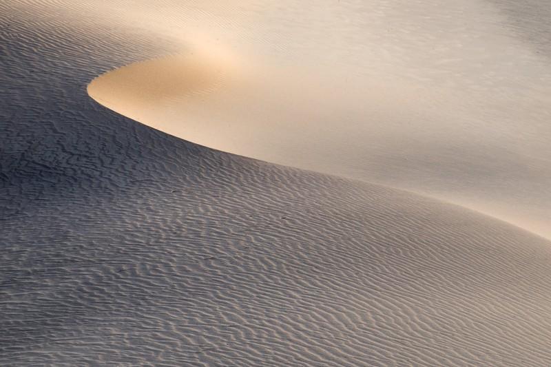 Sand dune in Death Valley, CA