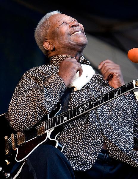 B.B. King and Lucille, his guitar
