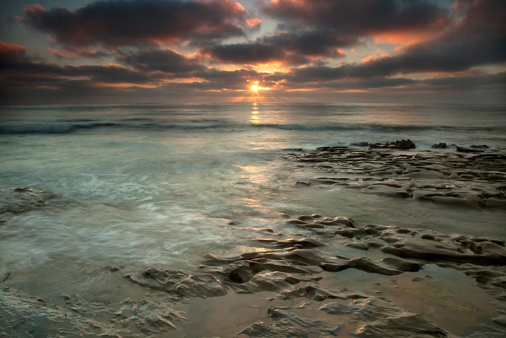 La Jolla Tidepools, Sunset
