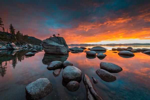 Lake Tahoe Fiery Sky