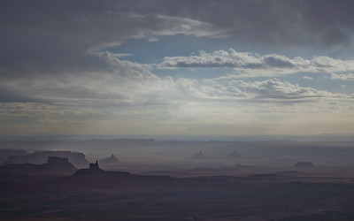 Inclement weather in the Valley of the Gods, Utah